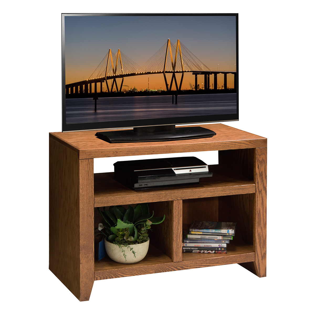 Legends furniture cl1210 city loft 32 tv stand cart in golden oak Home design golden city furniture