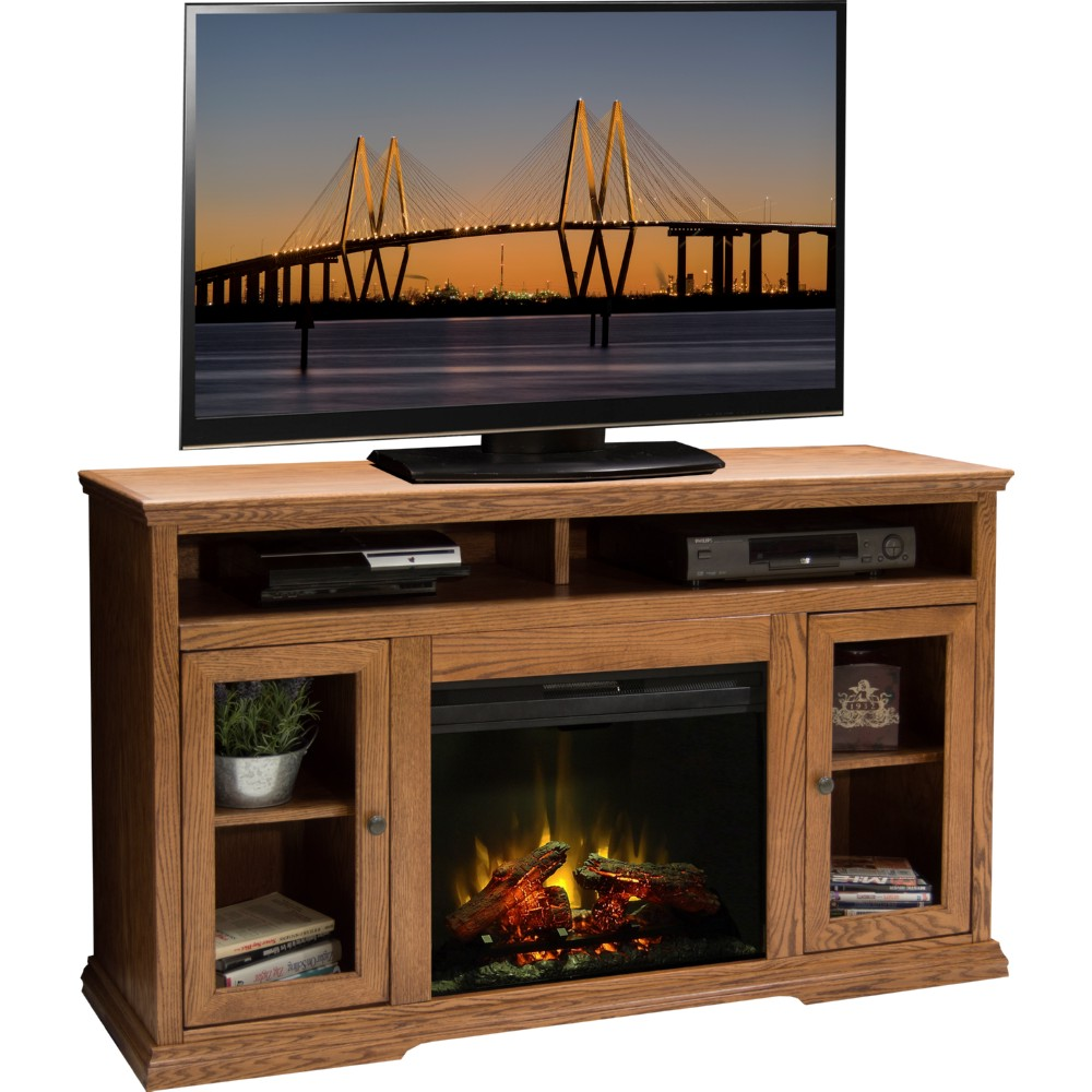 legends furniture cp5304 colonial place 59 quot fireplace tv
