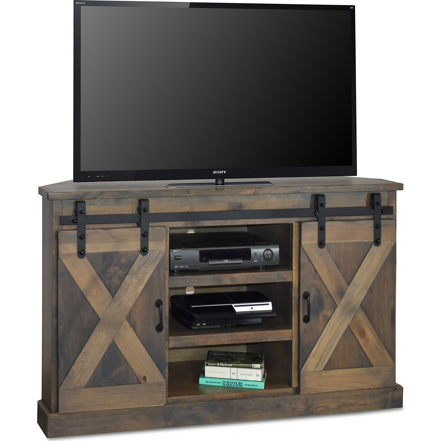 Legends Fh1322 Bnw Farmhouse 56 Quot Corner Tv Stand In