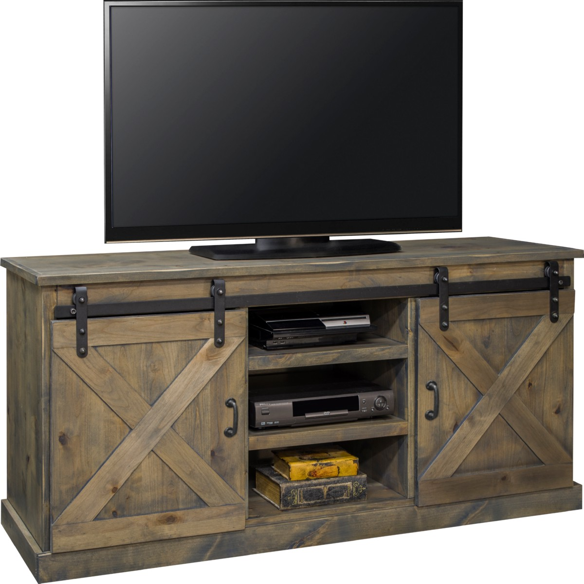 Legends Furniture FH1420 Farmhouse 66 TV Stand Console In
