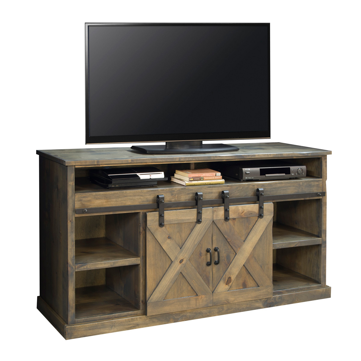 zbrk in berkshire piece cupboard unit legends distressed entertainment finish umber wall furniture pin