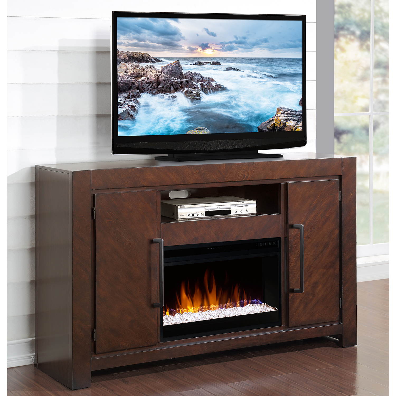 Legends Zctl 1900 City Lights 61 Quot Fireplace Tv Stand