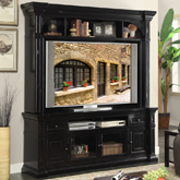 shelves with console door tv wal furniture coventry and riverside collections tone for hutch item two