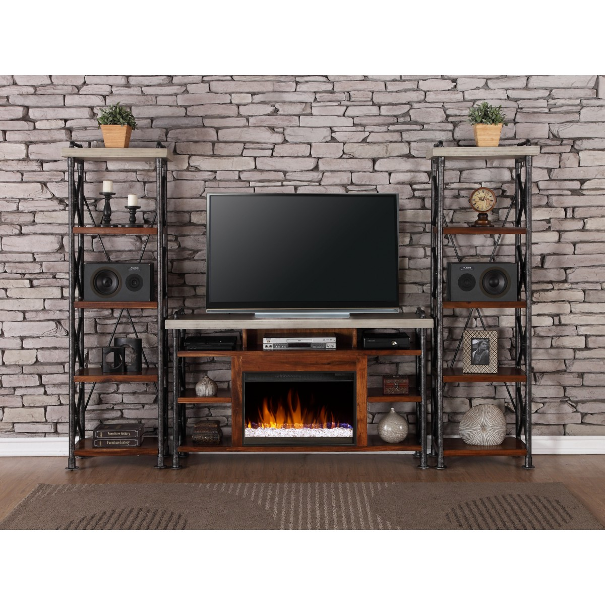 legends furniture zspk 1965 2x3000 steampunk fireplace