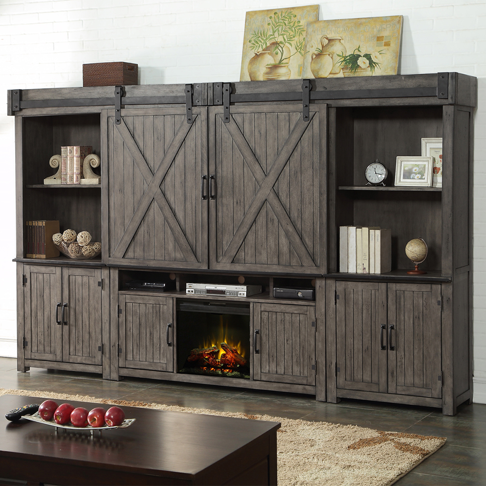 Wall Entertainment Center With Electric Fireplace Electric