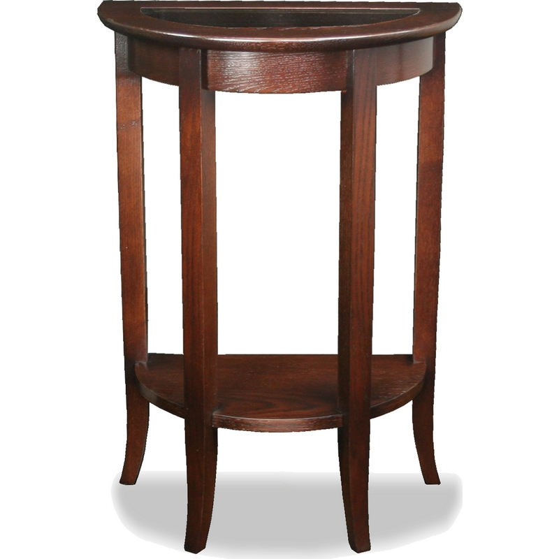 Leick Furniture 10035 Favorite Finds Demilune Table In