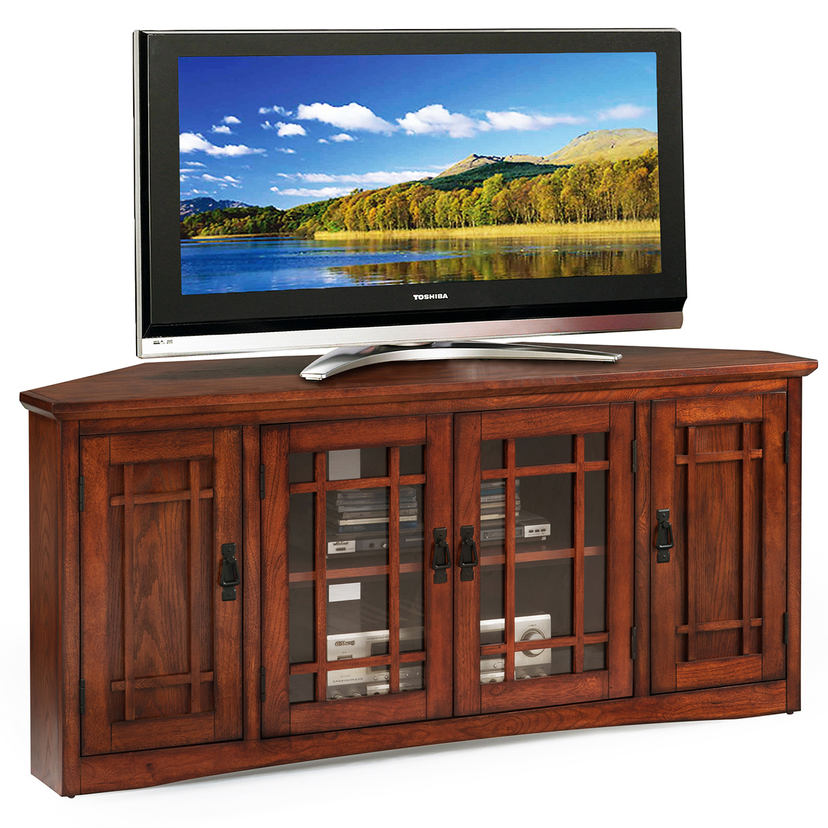 Leick Furniture 82386 Mission Style 56 Quot Corner Tv Stand In