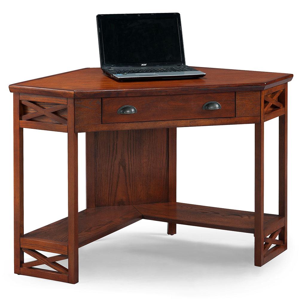 Leick Furniture 82431 Oak Corner Computer Or Writing Desk