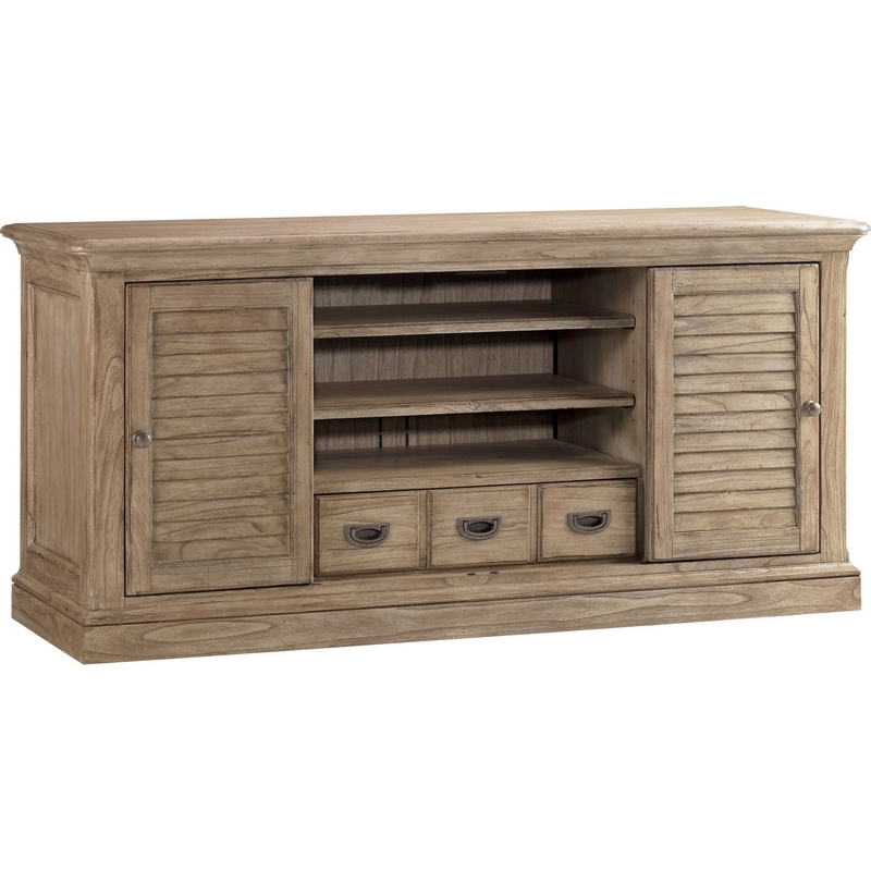 Barton Creek Travis 64 Tv Stand Entertainment Consolein In Grey Weathered Oak By Sligh