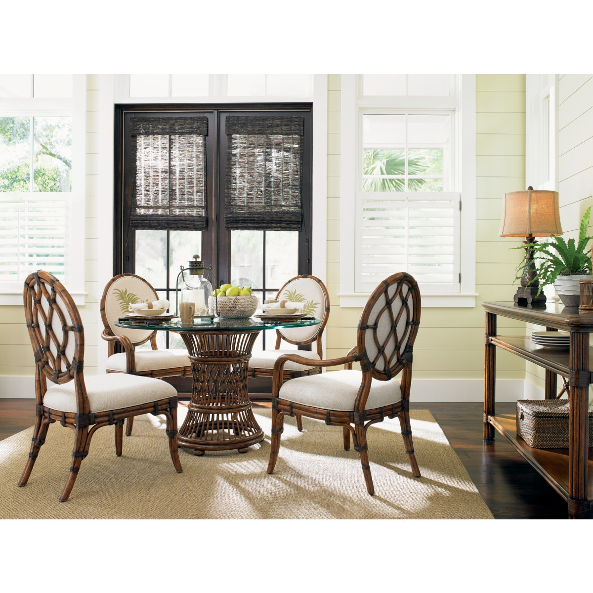 Tommy Bahama Home 593-881-02 Gulfstream Oval Back Arm Dining Chair ...