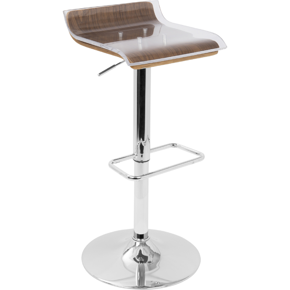 Tremendous Ale 2 Tier Swivel Bar Stool In Walnut Acrylic By Lumisource Alphanode Cool Chair Designs And Ideas Alphanodeonline