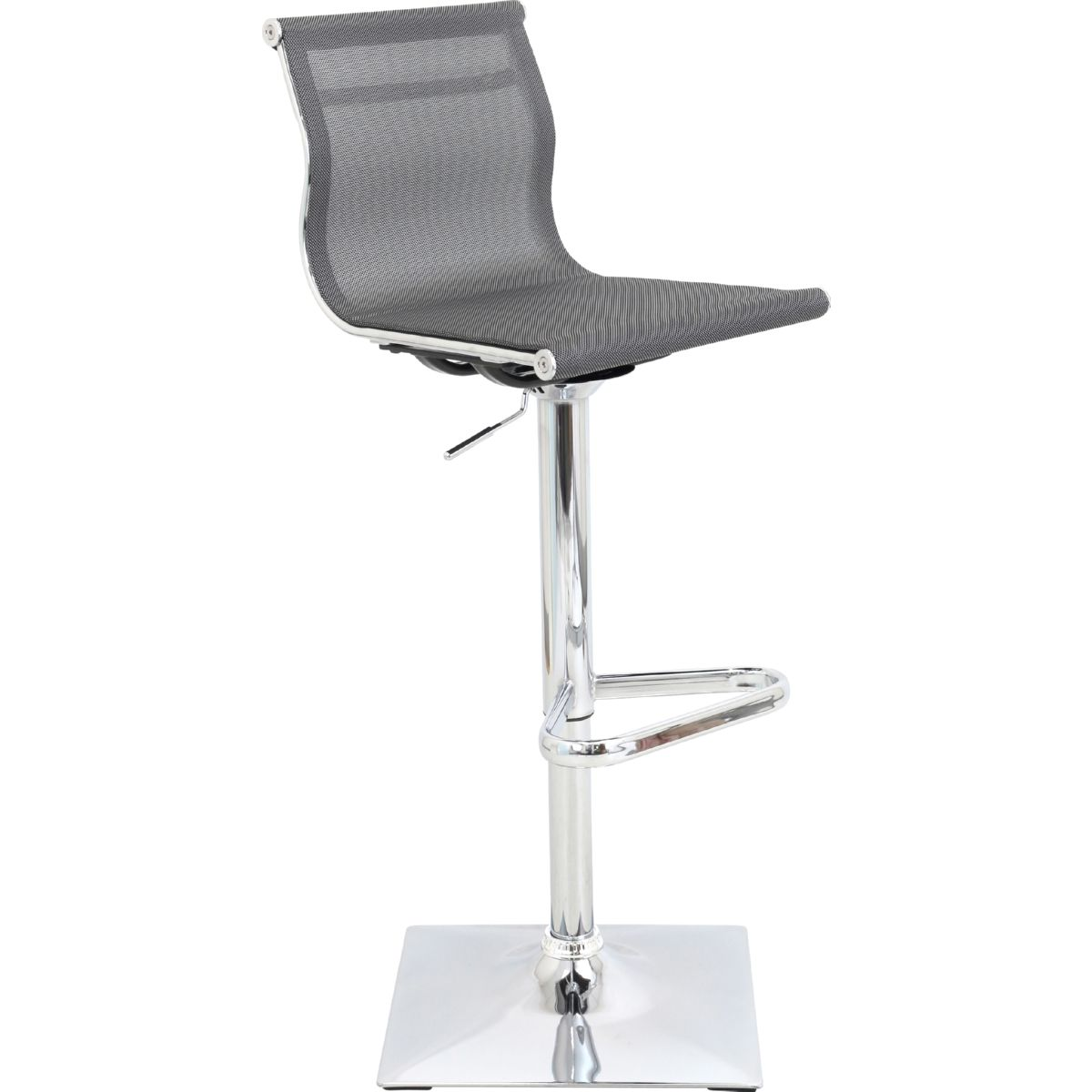 Lumisource Bs Tw Mirage Sv Mirage Bar Stool In Silver Mesh