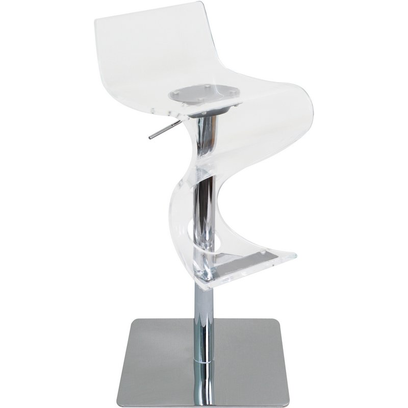 Counter Height Acrylic Stools : ... Height Acrylic Bar or Counter Height Stool in Clear & Chrome