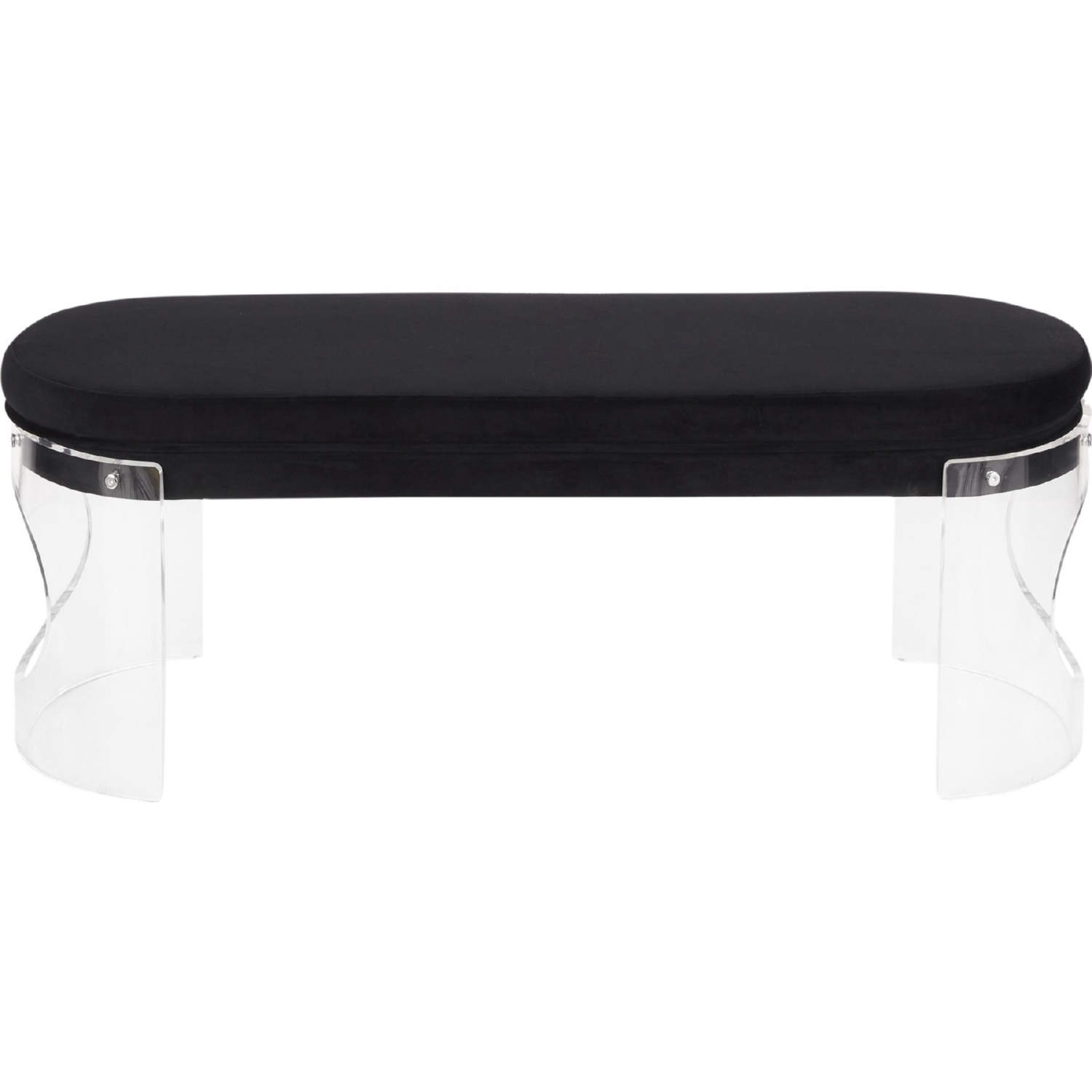 Awe Inspiring Clarity Dining Bench In Clear Acrylic Black Velvet By Lumisource Beatyapartments Chair Design Images Beatyapartmentscom