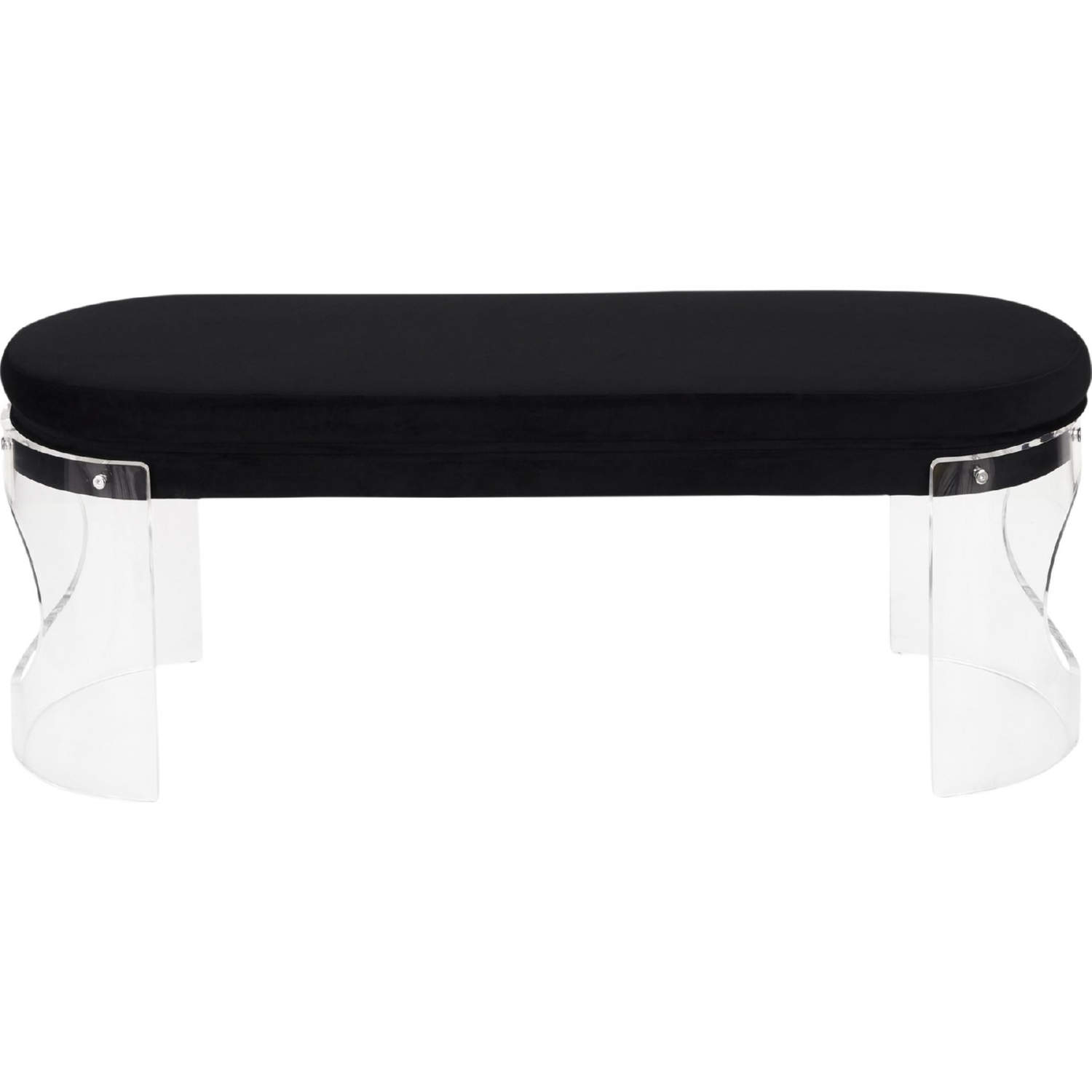 Swell Clarity Dining Bench In Clear Acrylic Black Velvet By Lumisource Beatyapartments Chair Design Images Beatyapartmentscom