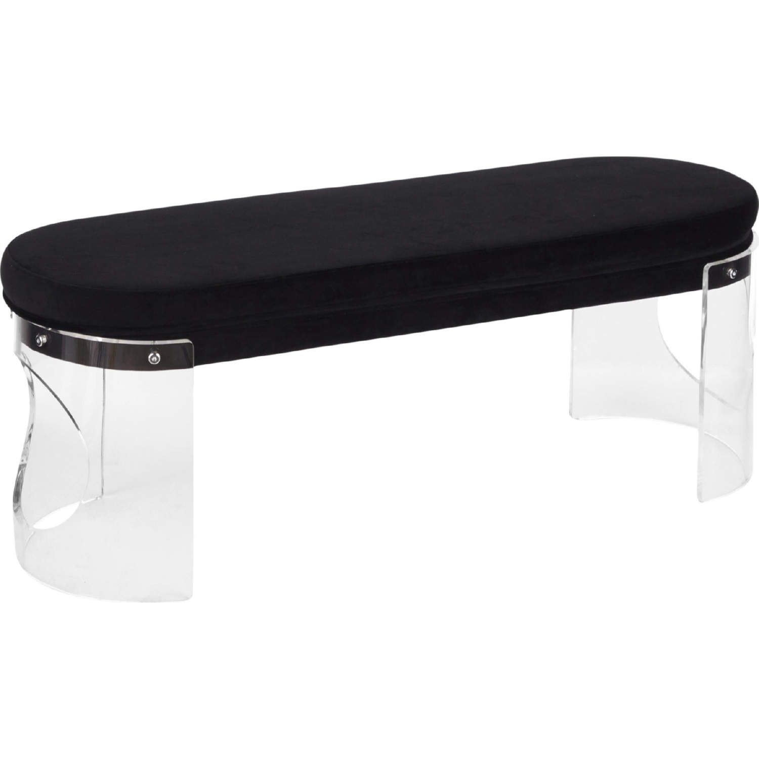 Strange Clarity Dining Bench In Clear Acrylic Black Velvet By Lumisource Beatyapartments Chair Design Images Beatyapartmentscom