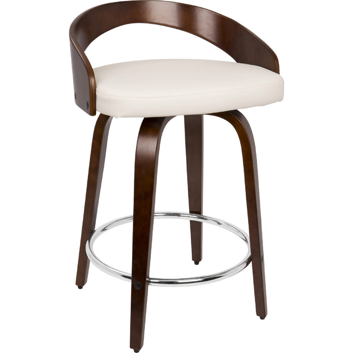 Lumisource Cs Jy Grt Ch W Grotto Swivel Counter Stool In