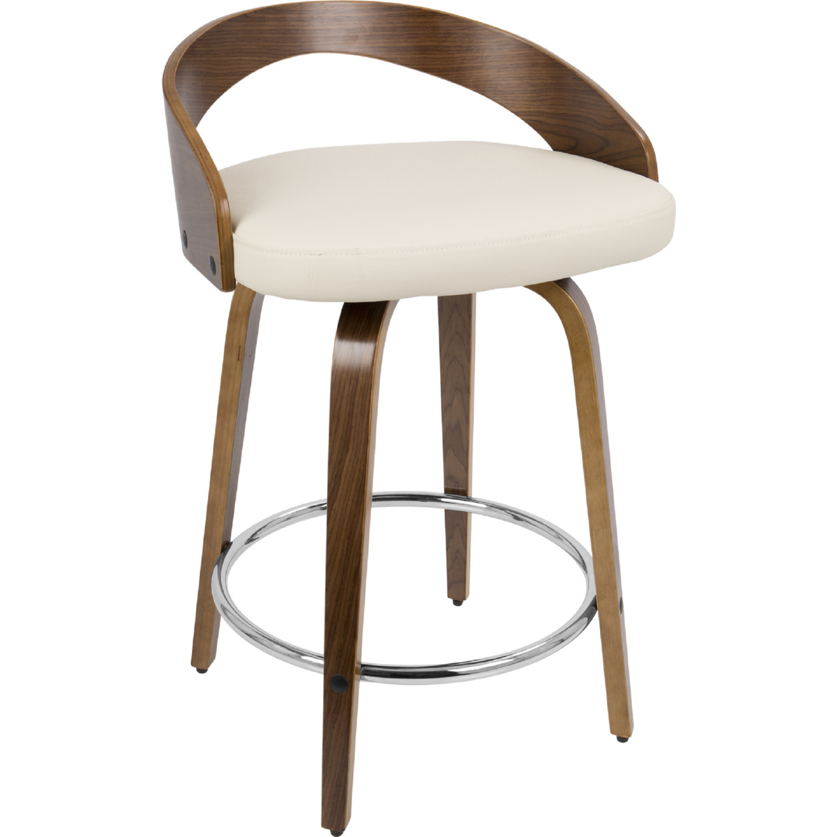 Lumisource Cs Jy Grt Wl Cr Grotto Swivel Counter Stool In