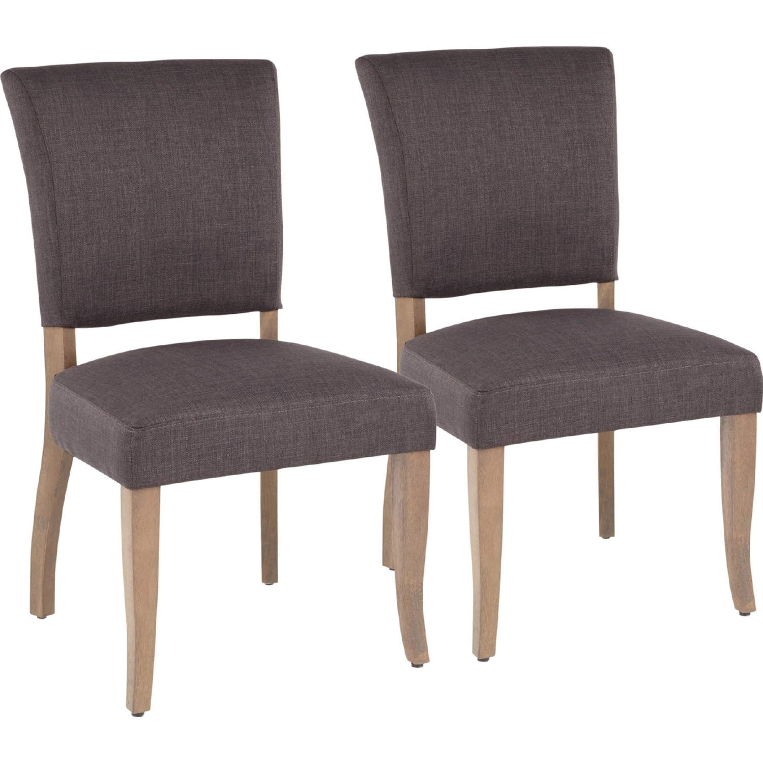 Phenomenal Rita Dining Chair In Grey Fabric On Ash Brown Wood Legs Set Of 2 By Lumisource Ncnpc Chair Design For Home Ncnpcorg