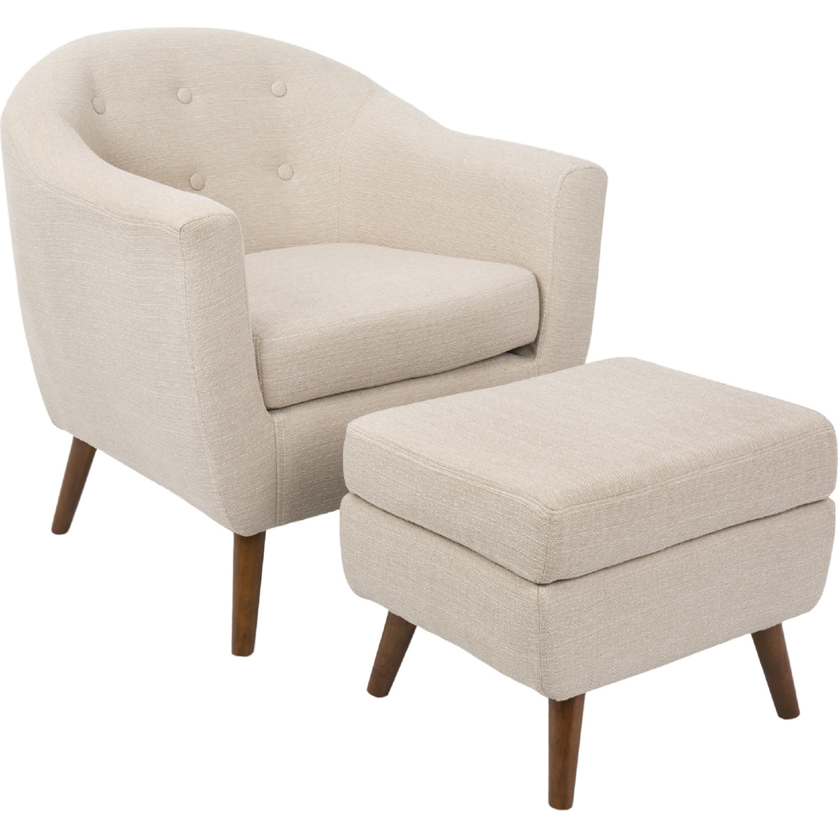 Strange Modern Accent Chair With Ottoman Jafari Ghola Pabps2019 Chair Design Images Pabps2019Com