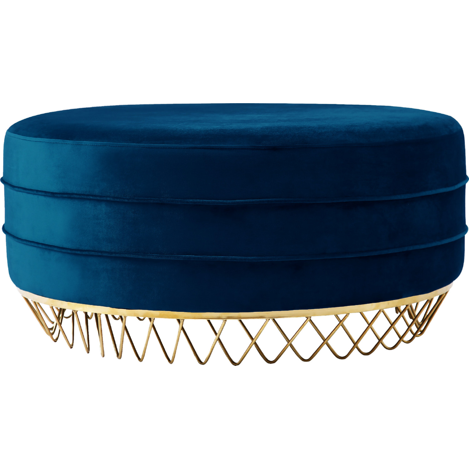 best service 2e0c1 91fd5 Revolve Ottoman Coffee Table in Navy Velvet on Gold Stainless by Meridian  Furniture