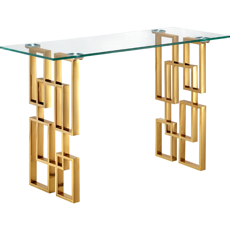 Elk Lighting Pierre: Meridian Furniture 214-S Pierre Console Table In Geometric