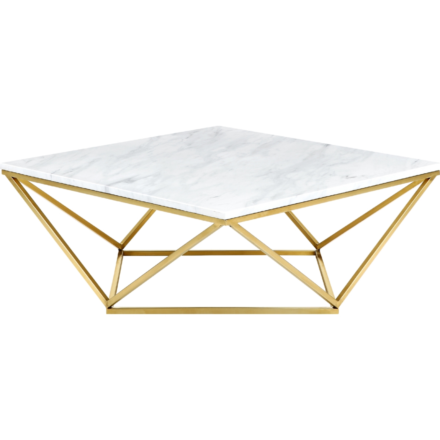 Meridian Furniture 216 C Mason Gold Geometric Coffee Table w