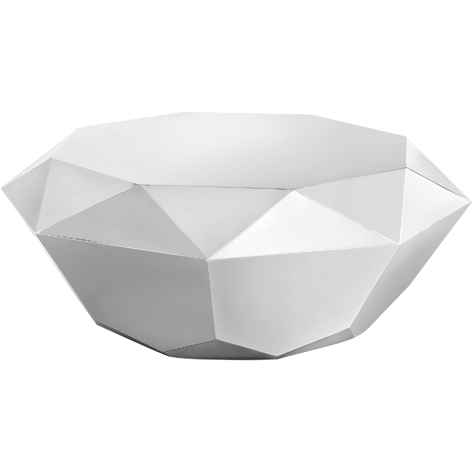 Meridian Furniture 222Silver C Gemma Silver Diamond Shape Coffee