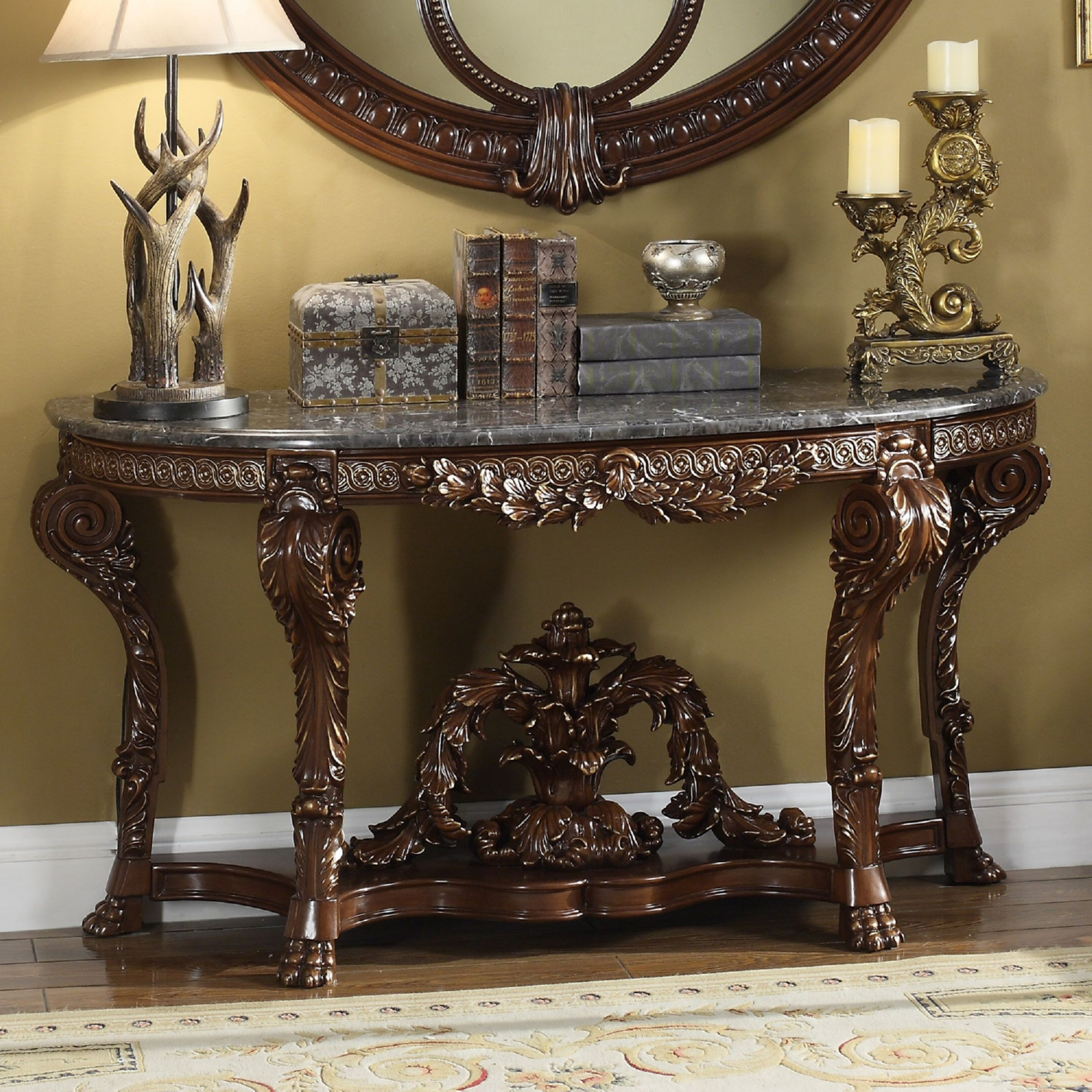 Ornate console tables images coffee table design ideas - Ornate hall table ...