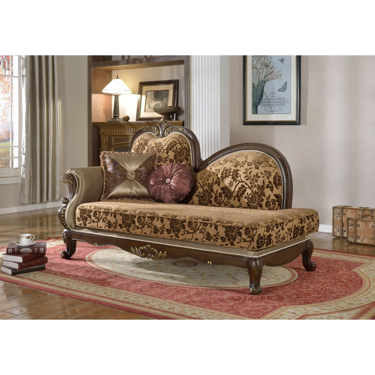 Meridian Furniture 610 Ch Catania Chaise In Tufted Fabric