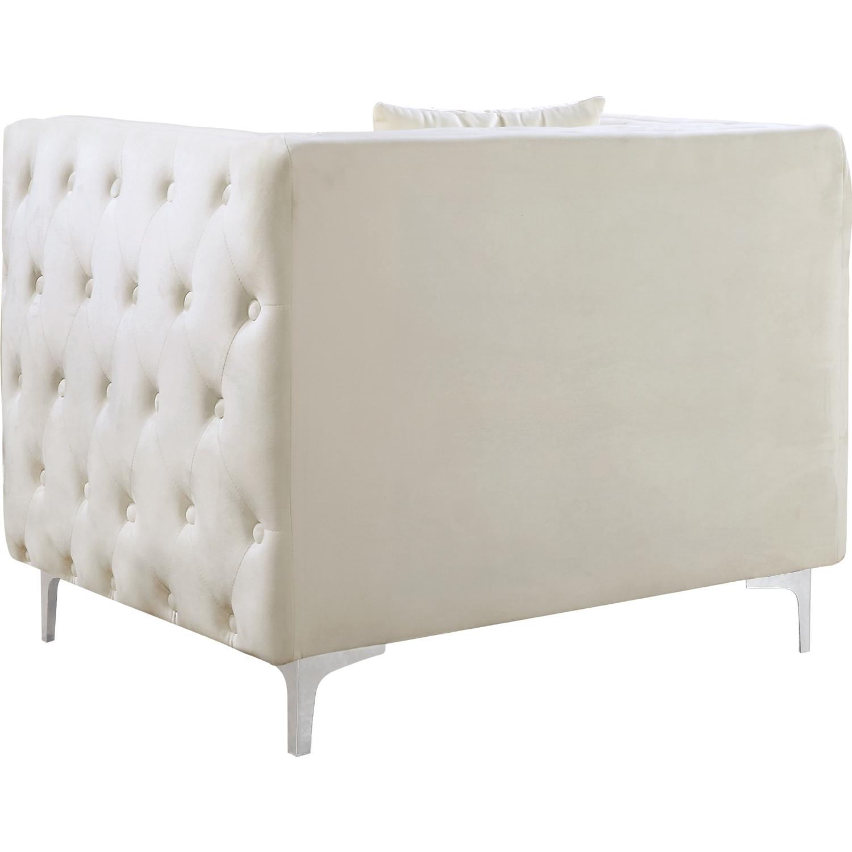 Meridian Furniture 668Cream C Jesse Accent Chair in Tufted Cream