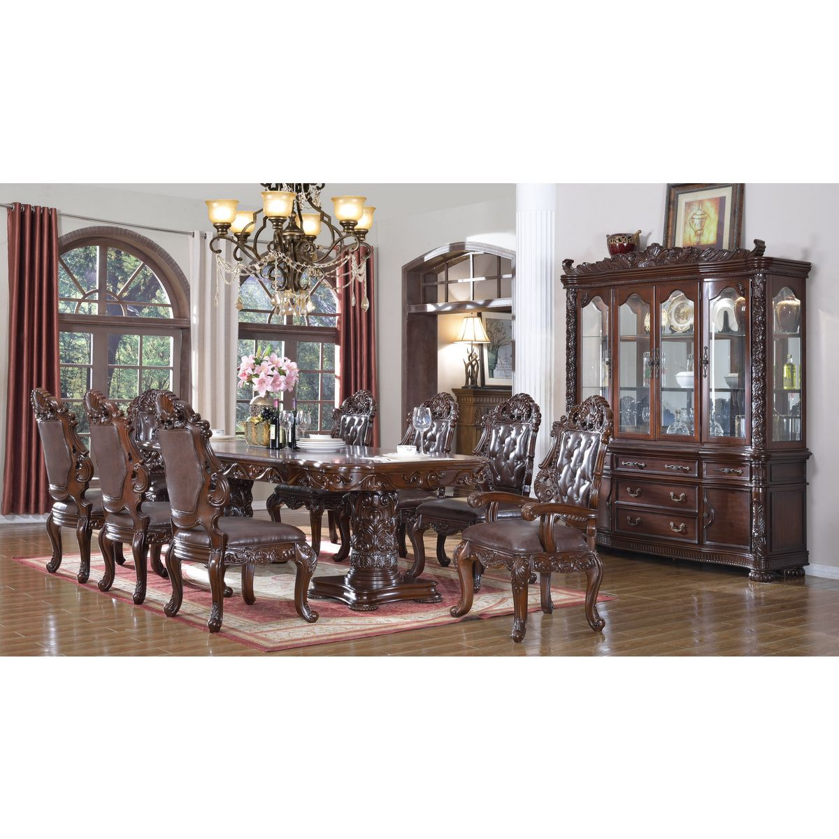 meridian furniture 701-10pc-set barcelona 10 piece dining set in