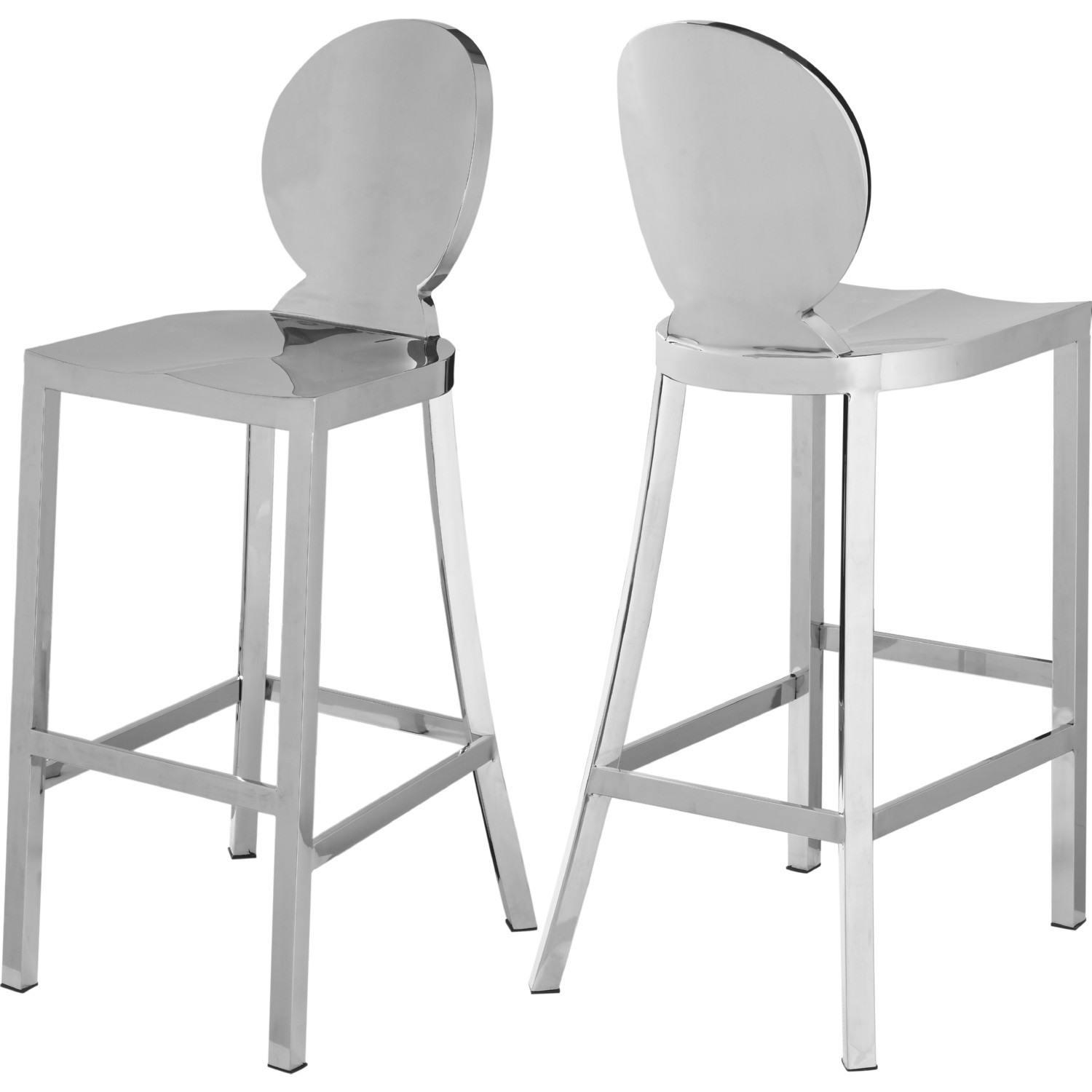 Superb Maddox Bar Stool In Chrome Stainless Steel By Meridian Furniture Machost Co Dining Chair Design Ideas Machostcouk