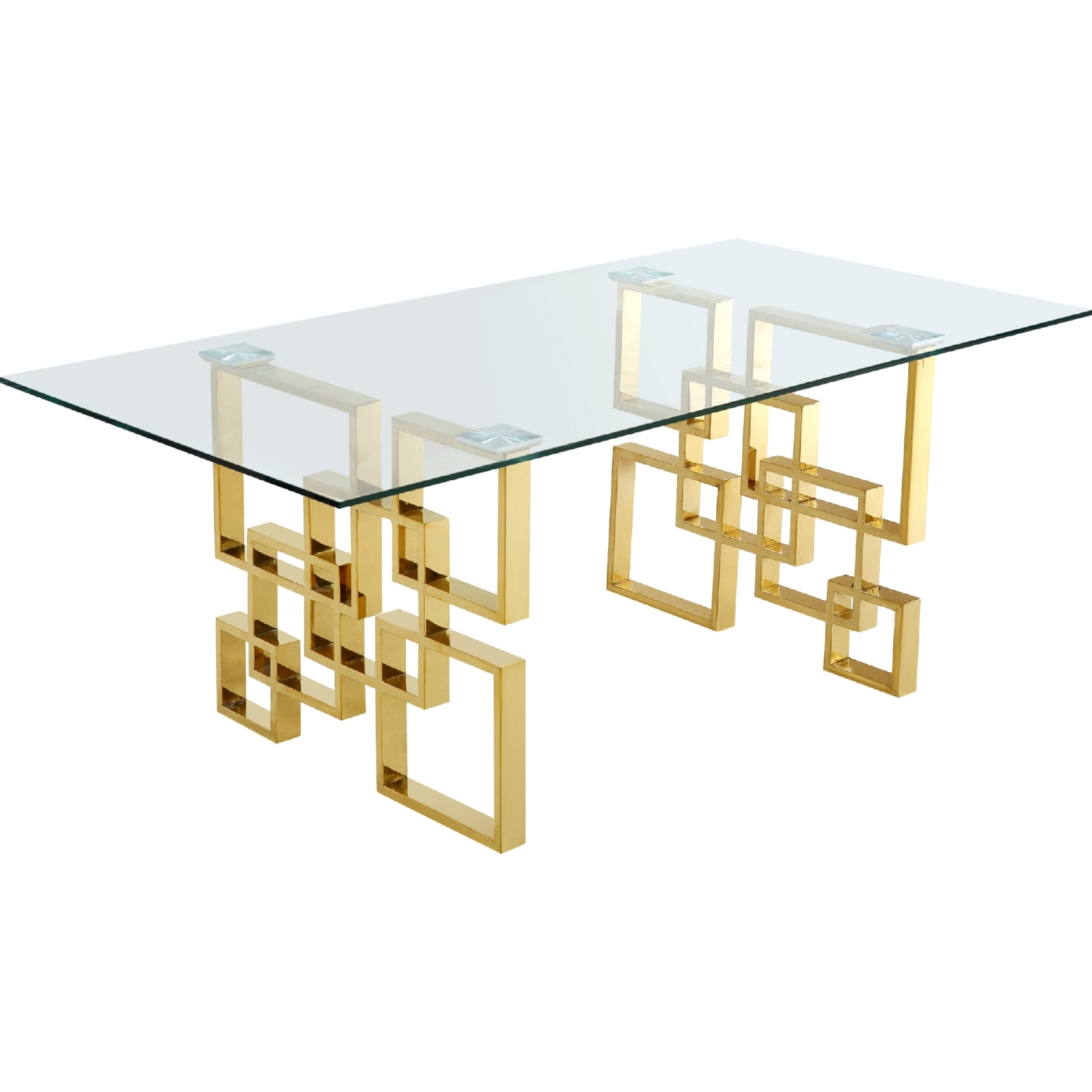 Meridian 714 T Pierre 78 Quot Gold Geometric Stainless Steel