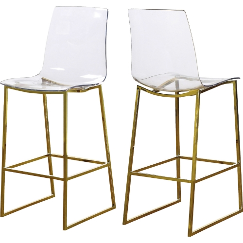 Swell Lumen Counter Stool In Clear Acrylic Polished Gold Metal By Meridian Furniture Inzonedesignstudio Interior Chair Design Inzonedesignstudiocom