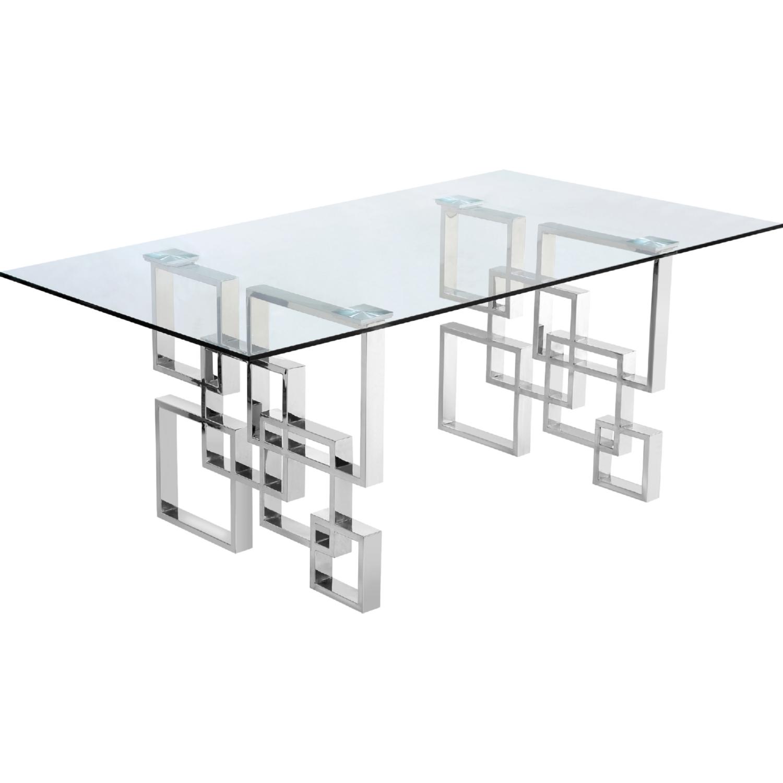 Meridian Furniture 731T Alexis 78 Chrome Geometric Stainless