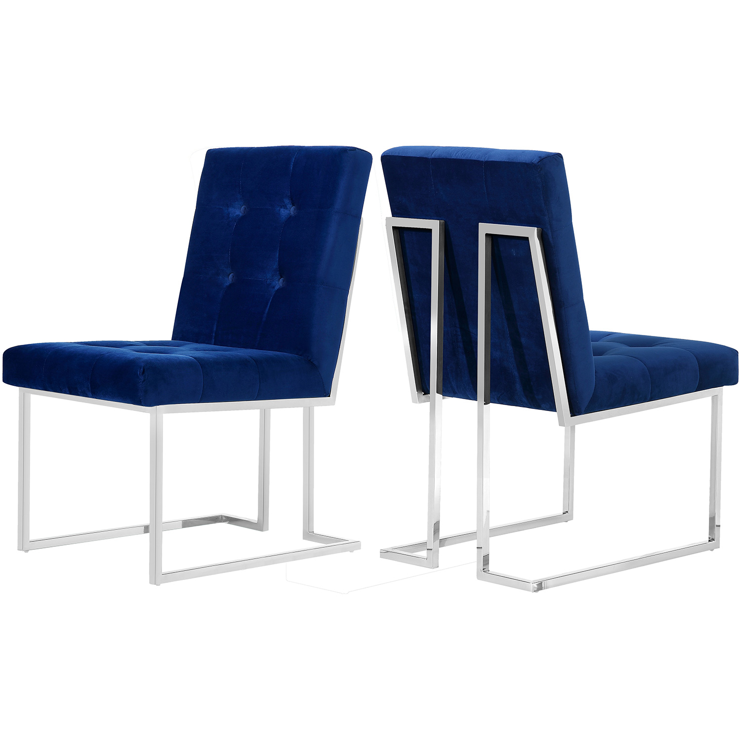 Meridian 731navy C Alexis Dining Chair In Tufted Navy
