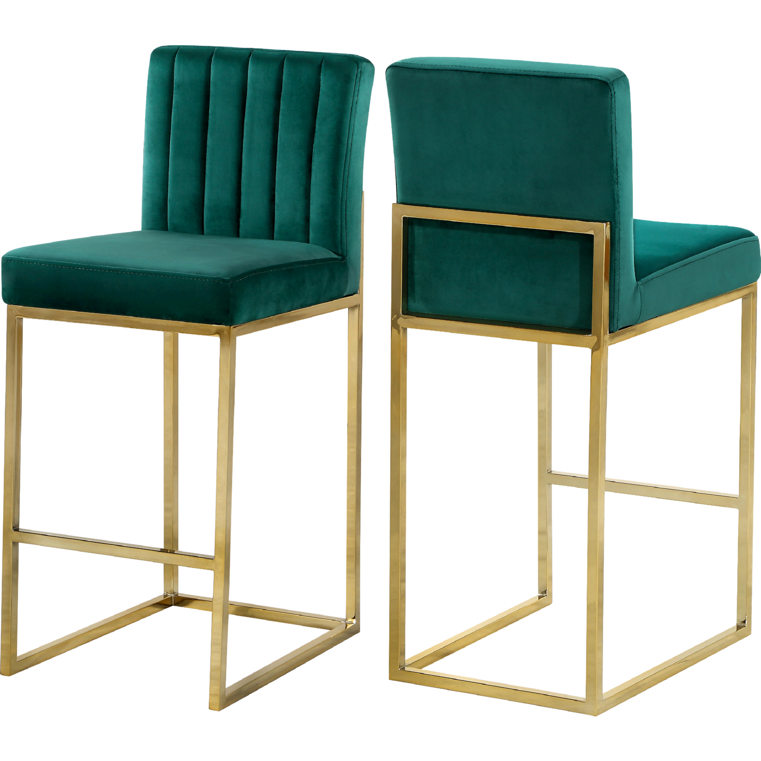 Meridian 781green C Giselle Counter Stool In Channel