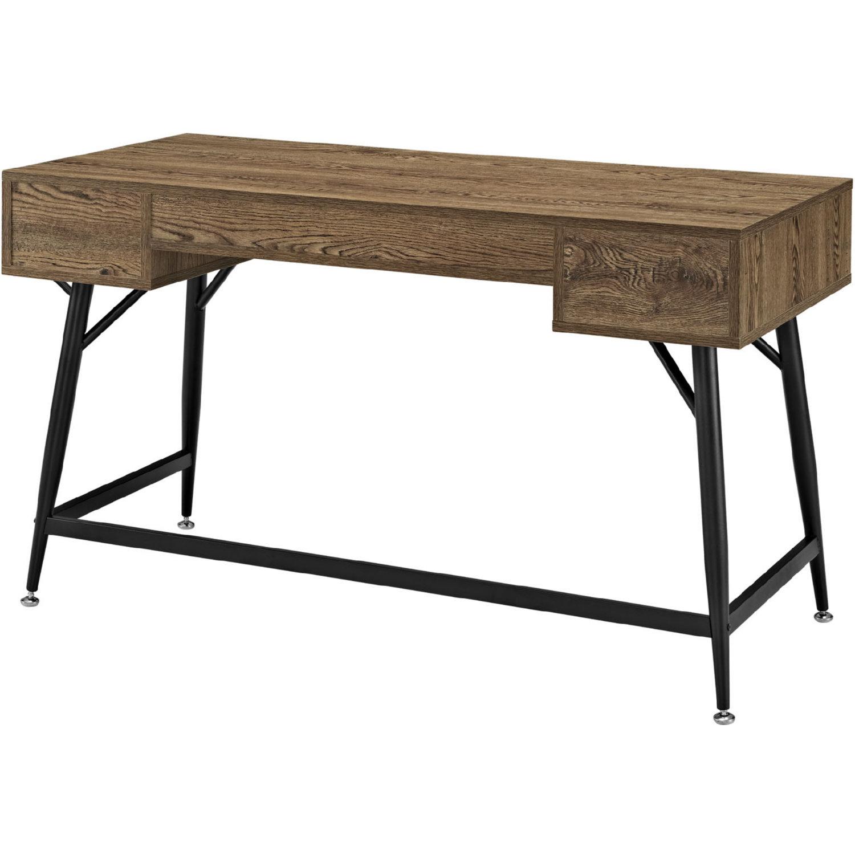 Modway Eei 1328 Wal Kit Surplus Office Desk W Walnut Grain  # Image Table Tv En Melamine