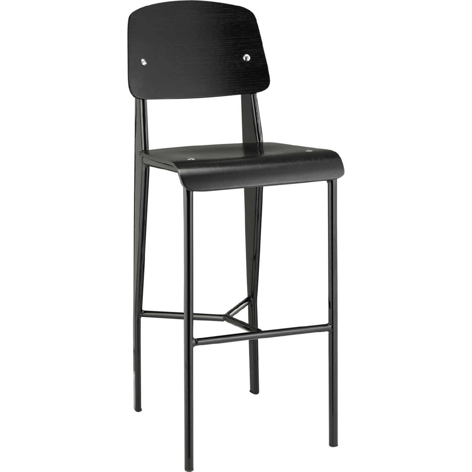 Astounding Cabin Bar Stool W Bentwood Back Seat On Black Steel Frame By Modway Dailytribune Chair Design For Home Dailytribuneorg