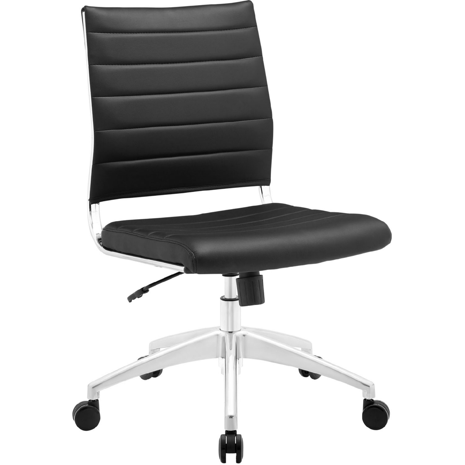 mid armless base blk on jive modway back chair eei office chrome in leatherette black