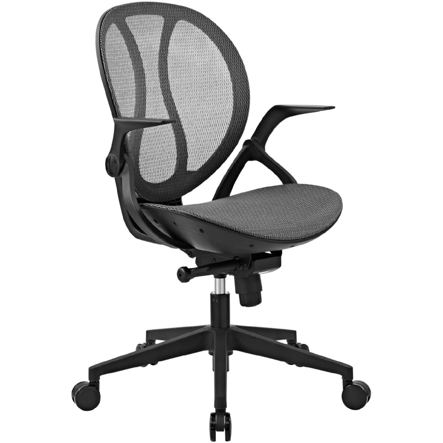 Conduct Office Chair In Gray Mesh W Casters By Modway