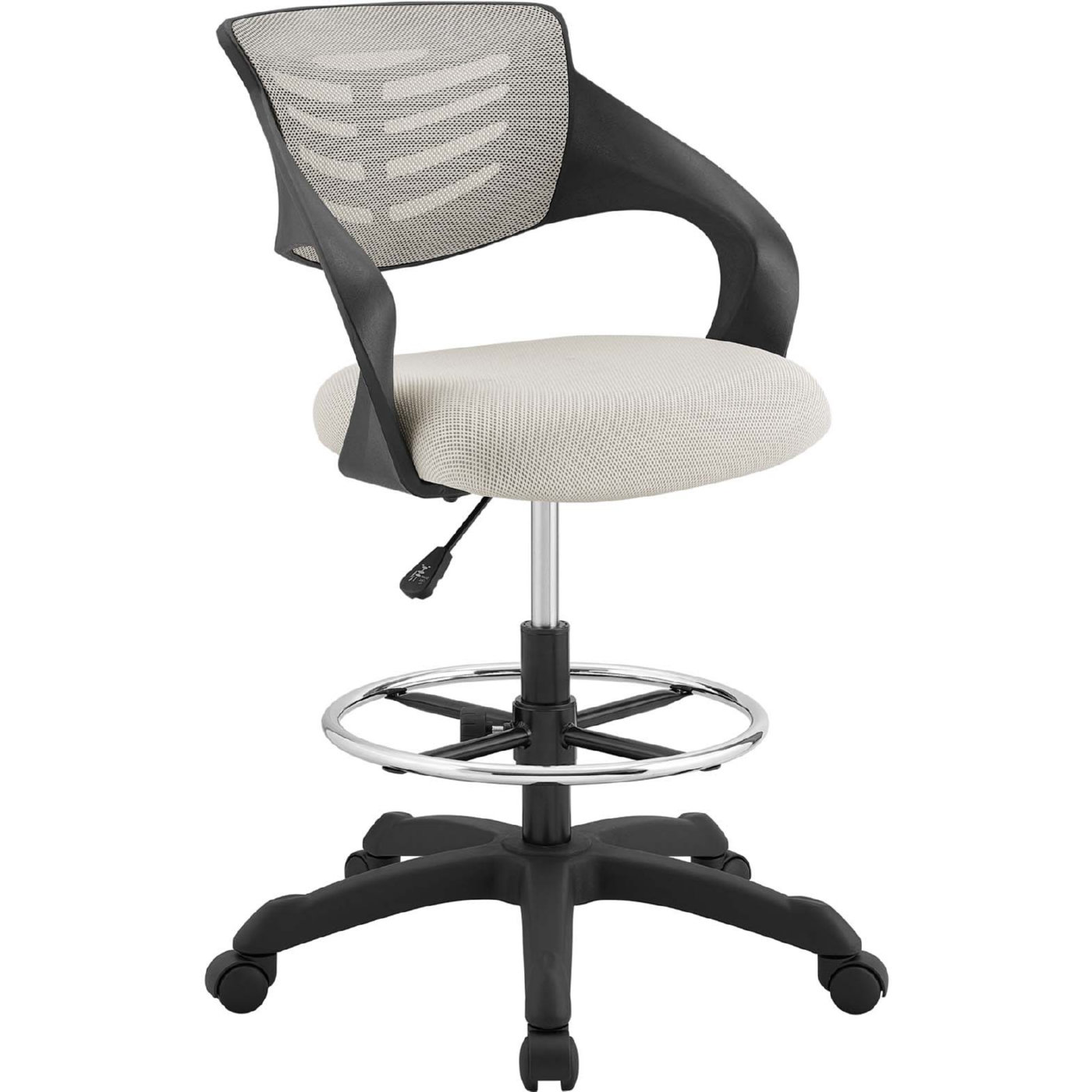 Thrive Drafting Chair in Gray Mesh by Modway