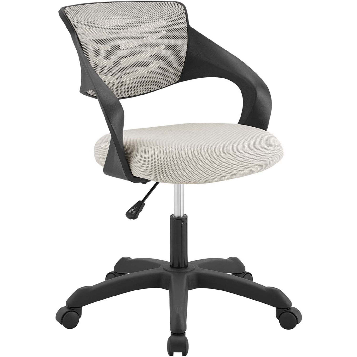Thrive Office Chair In Gray Mesh Fabric By Modway