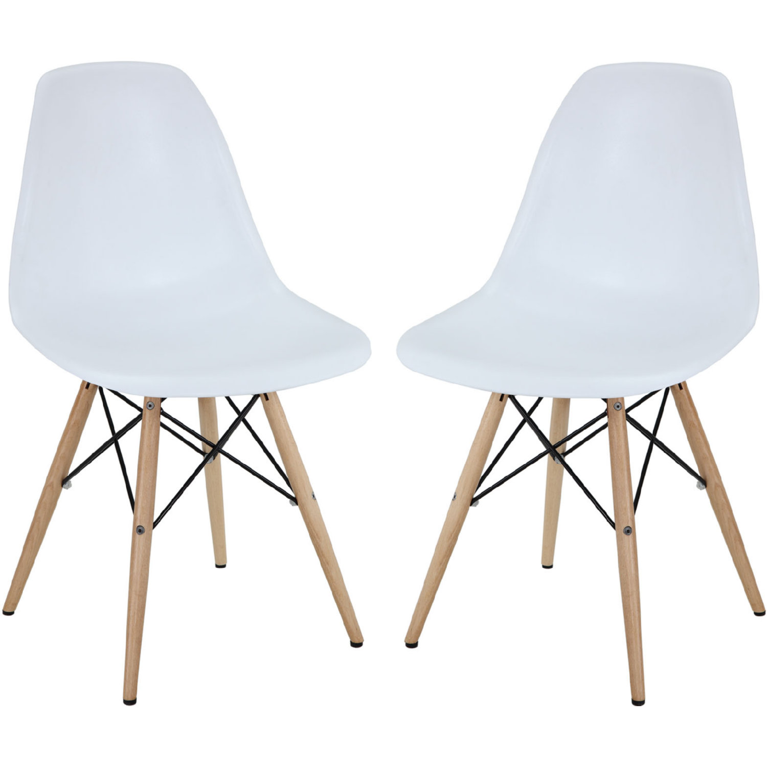 Super Pyramid Dining Chair In White On Wood Legs Set Of 2 By Modway Bralicious Painted Fabric Chair Ideas Braliciousco