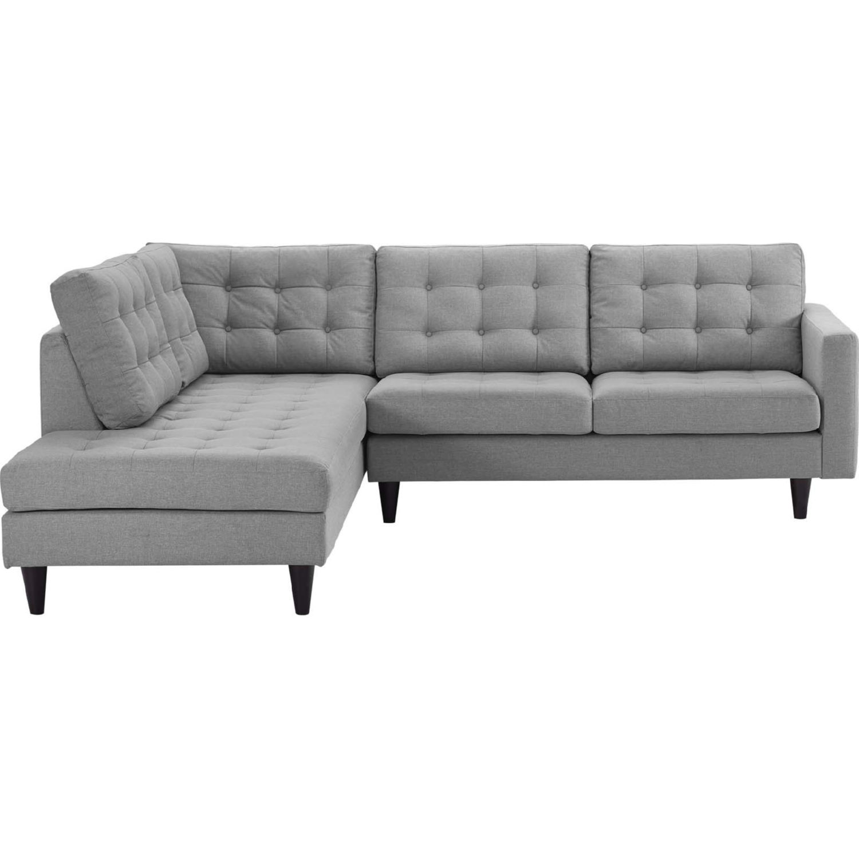 Flexsteel Everly Sofa: Modway EEI-2798-LGR Empress Sectional Sofa W/ Left Facing