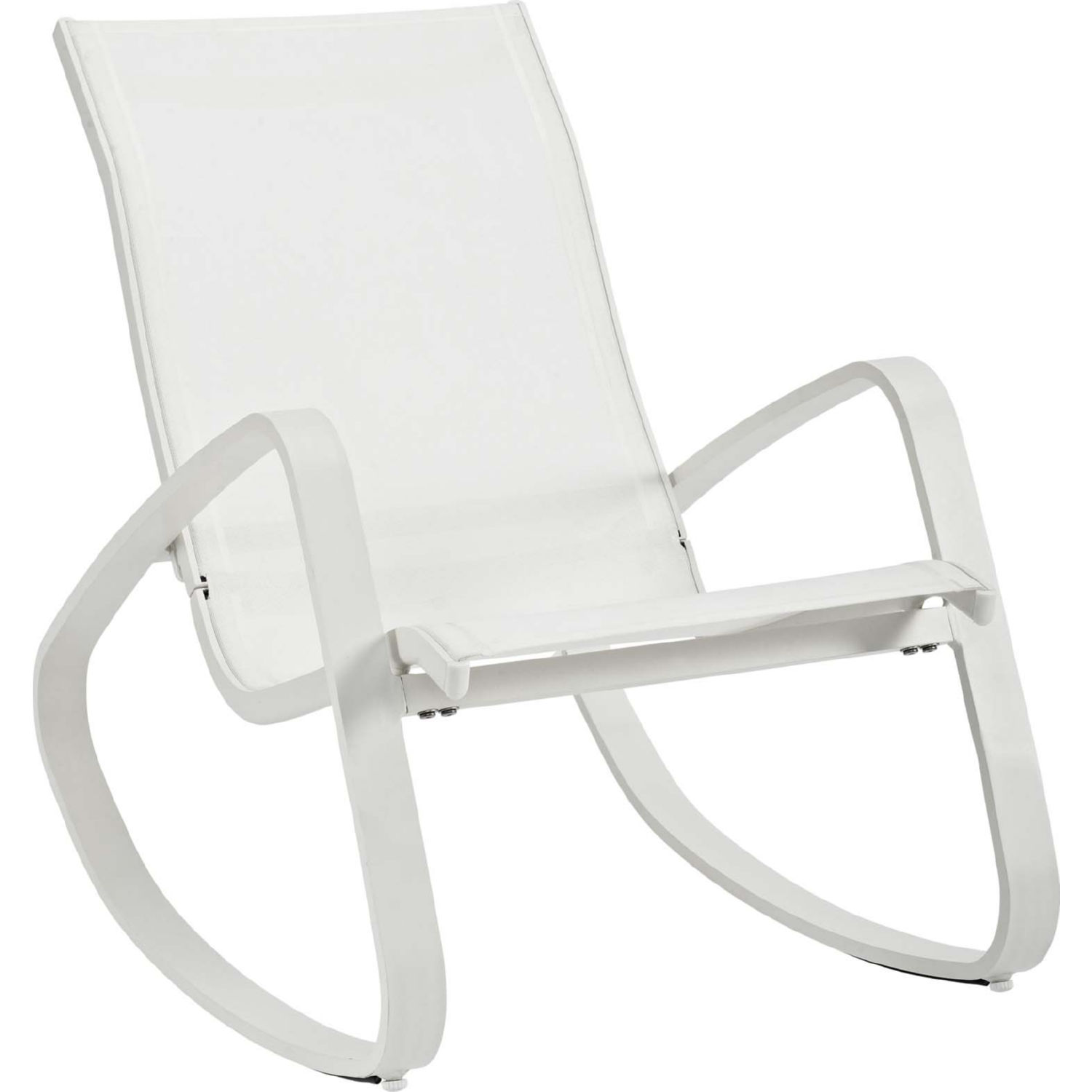 Modway Eei 3027 Whi Whi Traveler Rocking Outdoor Sling Chair In