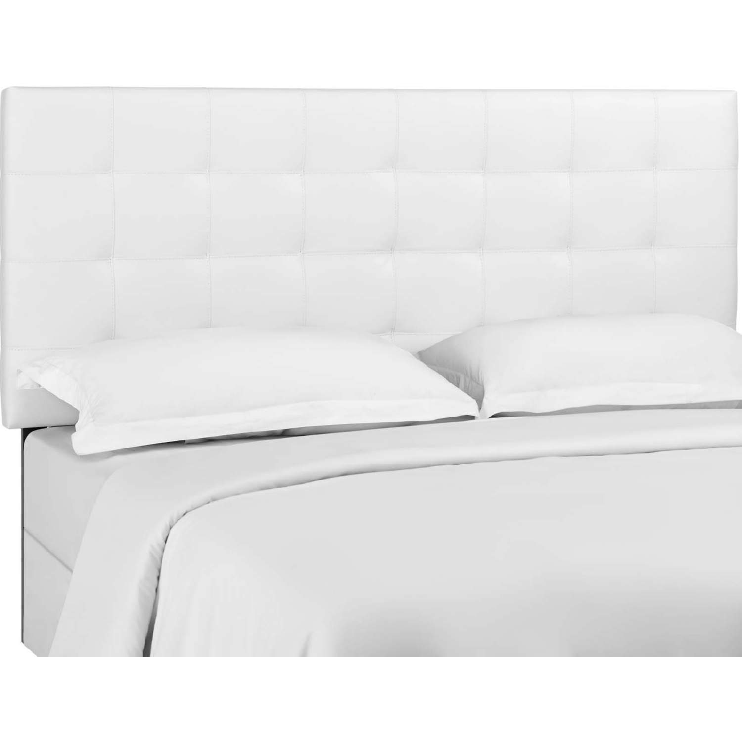 Modway Mod 5848 Whi Paisley Twin Headboard In Tufted White Leatherette