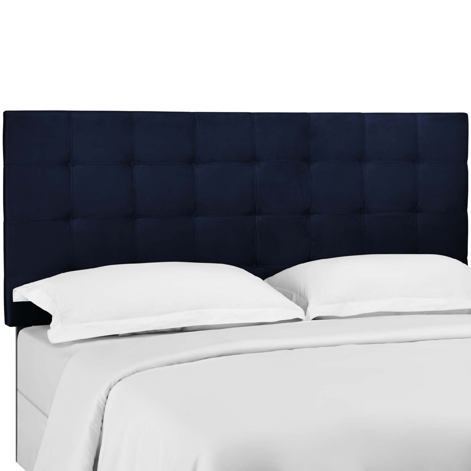 Picture of: Modway Mod 5856 Mid Paisley King California King Headboard In Tufted Midnight Blue Velvet