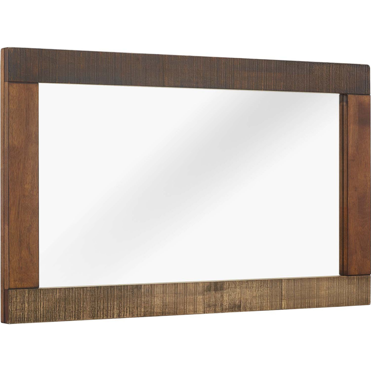 Arwen Rustic Wood Frame Mirror In Walnut Finish Natural By Modway